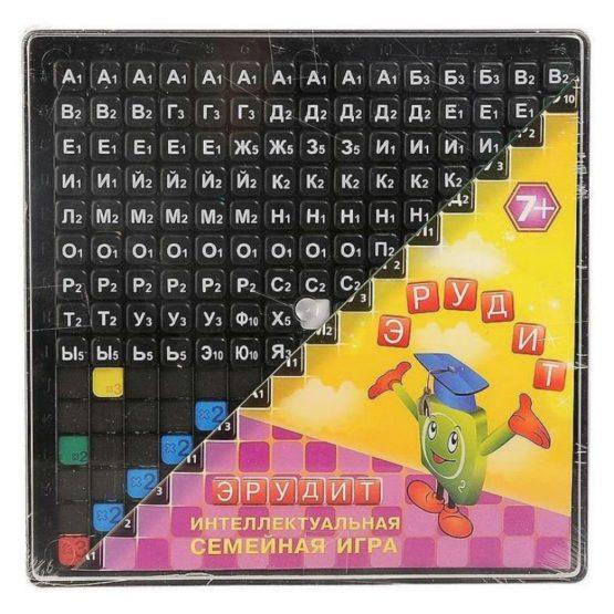 Игра «Эрудит» (черные фишки) в коробке!