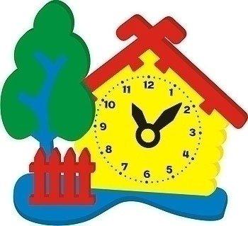Мягкий конструктор Часы Домик