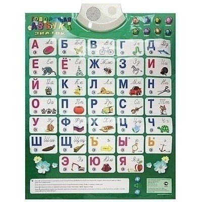Электронный звуковой плакат «Говорящая азбука» (8 режимных кнопок)