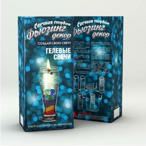 «Свечная студия»,  набор для создания гелевых свечей «Фьюзинг декор»