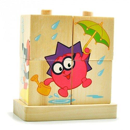 Кубики «Летние Смешарики»
