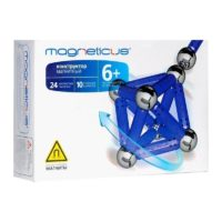 Конструктор Магнетикус Magneticus магнитный, 34 элементов, синий
