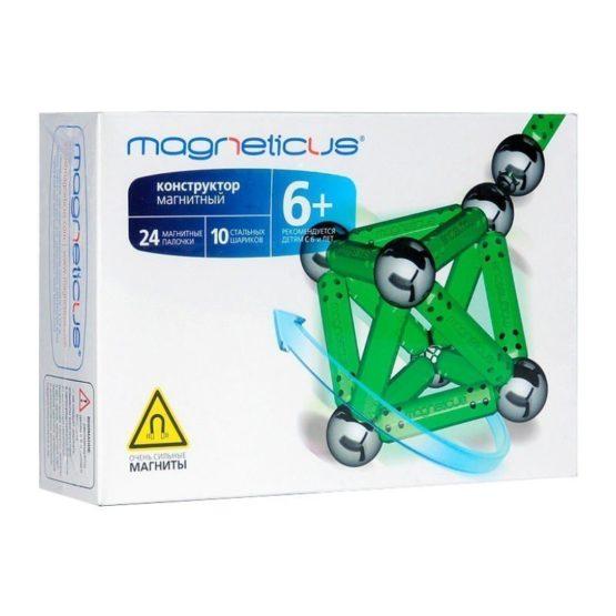 Конструктор Магнетикус Magneticus магнитный, 34 элементов, зелен