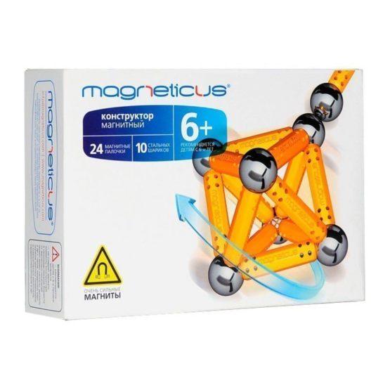 Конструктор Магнетикус Magneticus магнитный, 34 элементов, желты