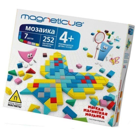 Магнитный конструктор MAGNETICUS, 252 элемента, 20 этюдов, 7цветов