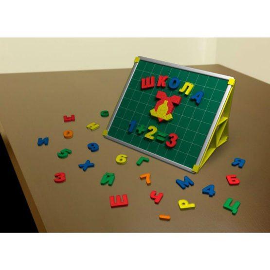 «Учебная доска с набором букв и цифр»/ Двусторонняя магнитная доска (оборот маркерный)