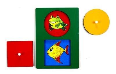Секретики Лягушонок -Рыбка (круг-квадрат)
