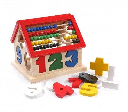 Игрушка домик Цифры-счеты