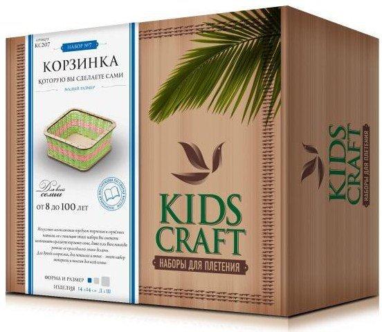 Набор для плетения «KidsCraft» «Корзинка» № 7, куб, малый, 14х14 см.