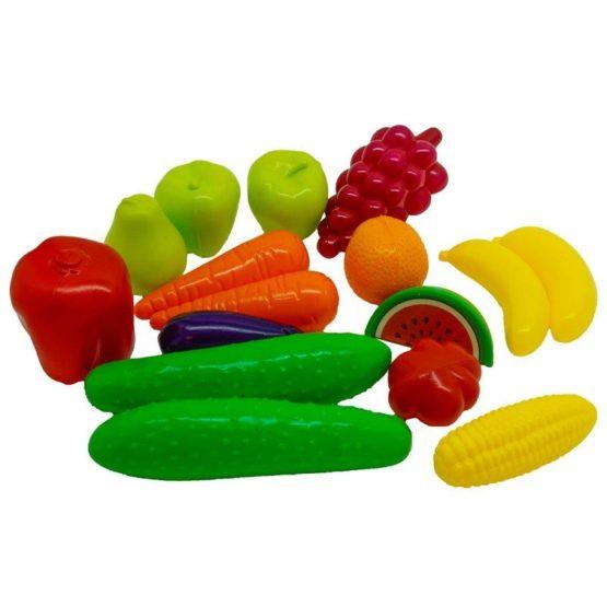 Большой набор «Фрукты и овощи»       19*18 см