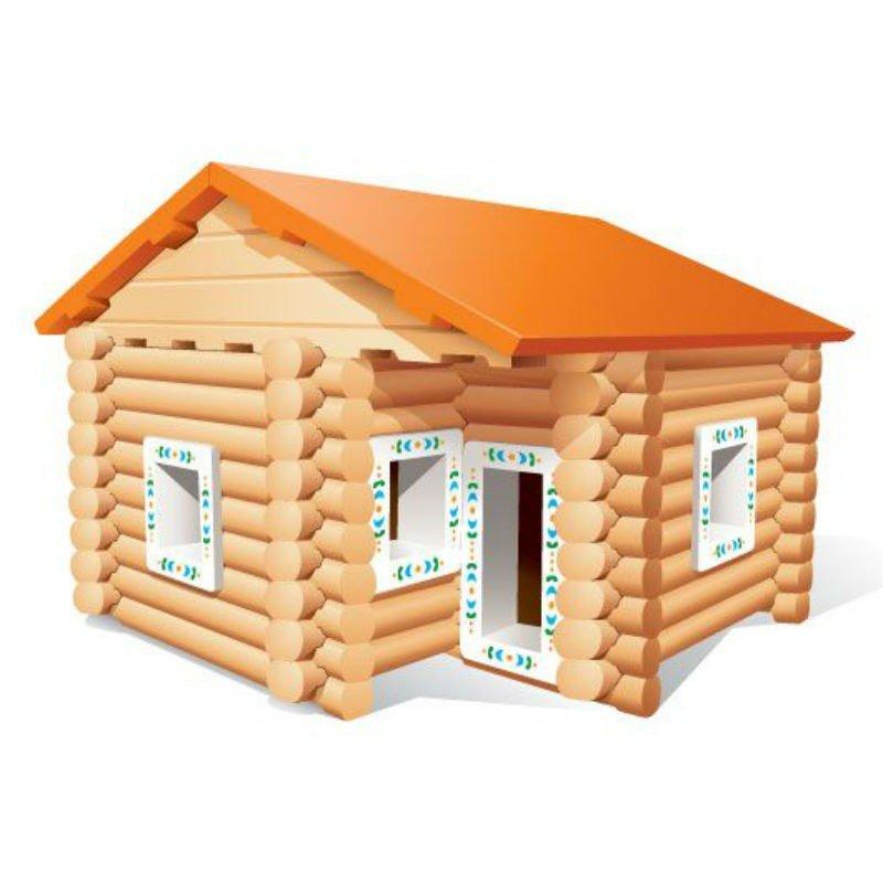 Картинки для детей дома деревянные
