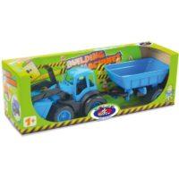 Трактор с ковшом и прицепом в коробке