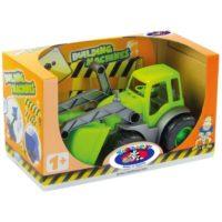 Трактор с ковшом в коробке