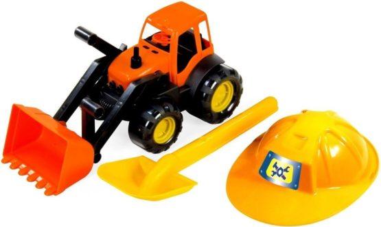 Трактор c каской и лопатой