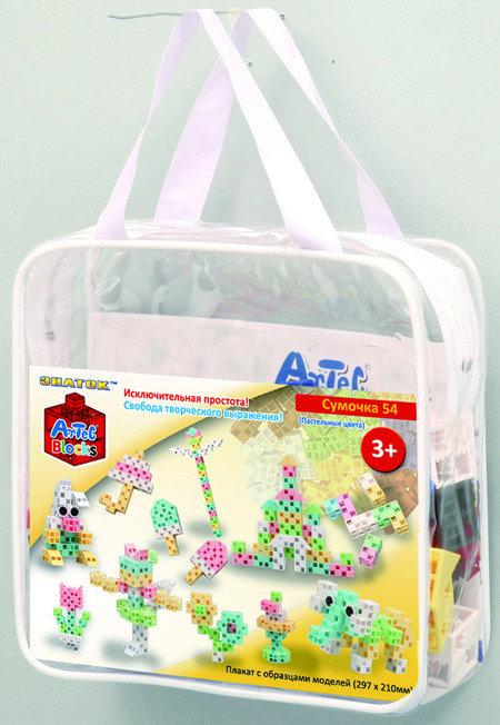 Конструктор ARTEC сумочка (пастельные цвета) 54дет.