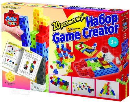 Конструктор ARTEC «Game Creator 20 логических игр». в картонной коробке, 130дет.