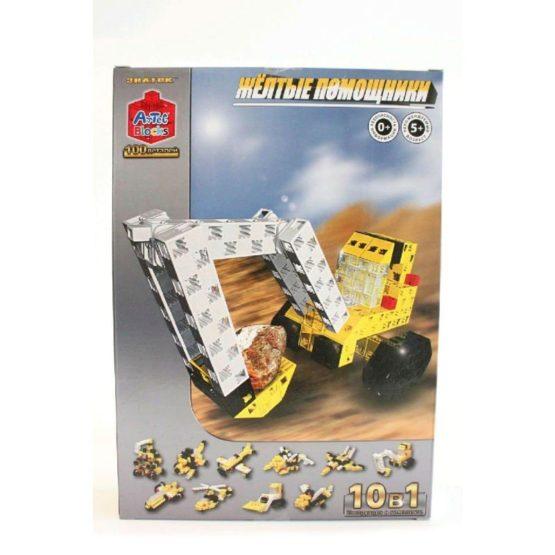 Конструктор ARTEC  «Жёлтые помощники» коробка 100дет
