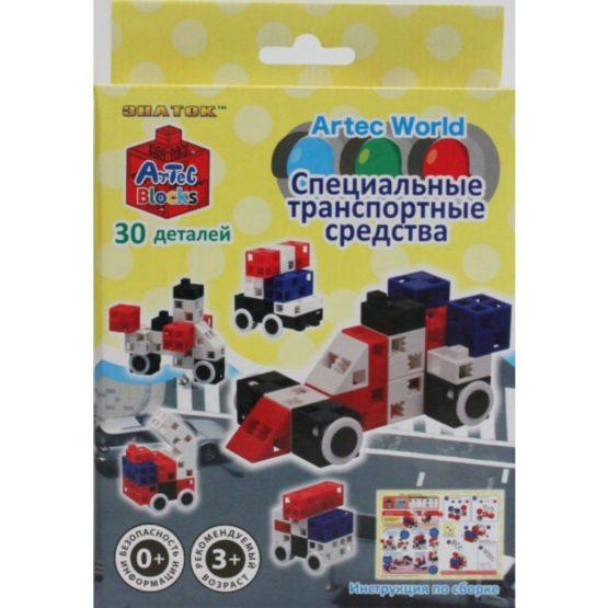 Конструктор ARTEC World «Специальные транспортные средства» коробка 30дет.