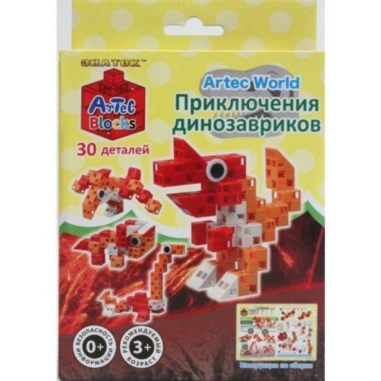 Конструктор ARTEC World «Приключения динозавриков» коробка 30дет.