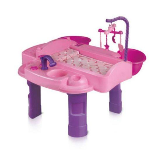 Игровой набор для девочек: Кукольный столик для пеленания «Маленькая мама»