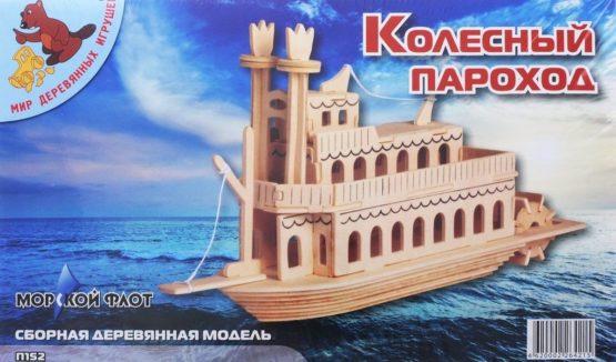 Сборная модель Колесный пароход