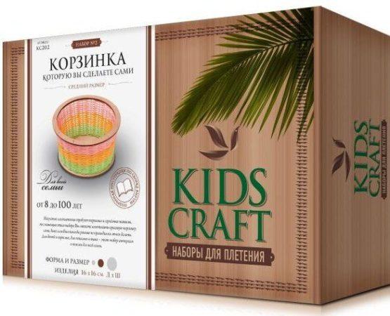 Набор для плетения «KidsCraft» «Корзинка» № 2, круг, средний, 16х16 см.