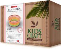 Набор для плетения «KidsCraft» «Корзинка» № 3, круг, большой, 20х20 см.
