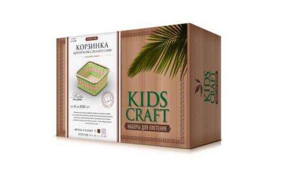 Набор для плетения «KidsCraft» «Корзинка» № 8, куб, средний, 16х16 см.