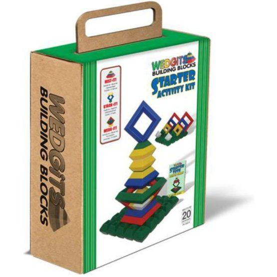 Конструктор WEDGiTS Starter Activity Kit: 20 деталей, доска, набор карточек.