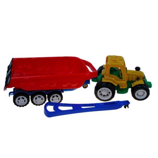 Трактор «Трудяга» с прицепом