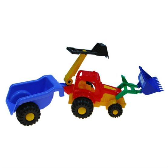 Трактор «Фермер» Погрузчик-Экскаватор с прицепом