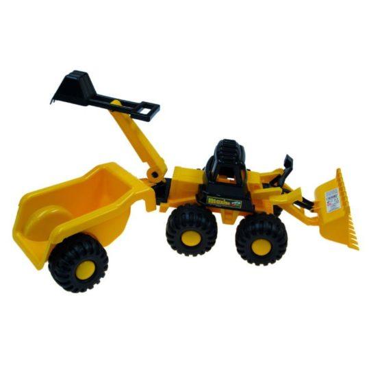 Трактор «Ударник» Погрузчик-Экскаватор с прицепом