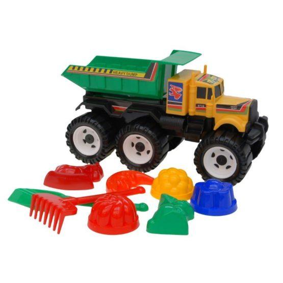 Детский автомобиль «Мега с песочным набором»