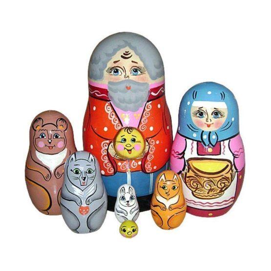 Матрешка «Колобок» 7 перс.