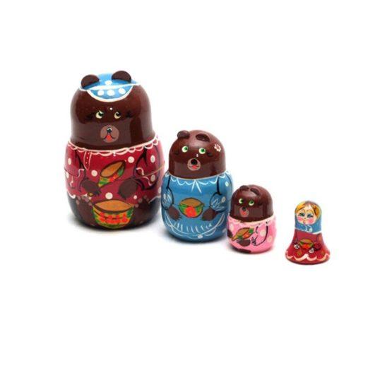 Матрешка «Три медведя» 4 перс. (РНИ)