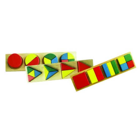 «Геометрия для  малышей»   В коробке три  отдельные части со вкладышами.27*8*4 см