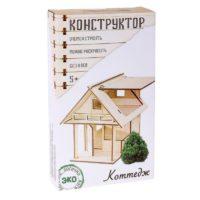 Деревянный конструктор «Домик из панелек»
