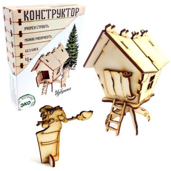 Деревянный конструктор «Избушка»