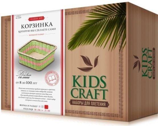 Набор для плетения «KidsCraft» «Корзинка» № 9, куб, большой, 18х18 см.