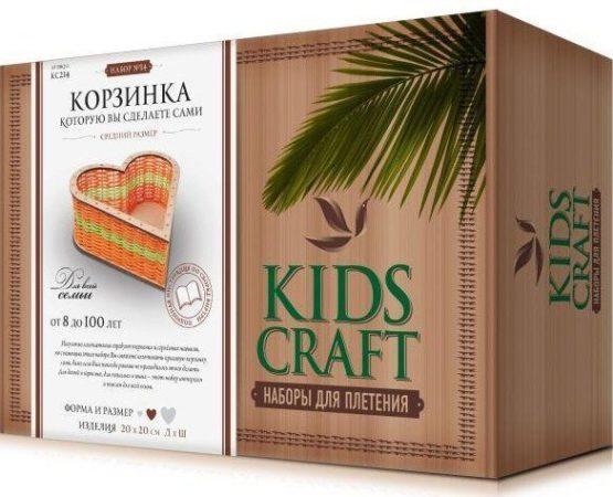 Набор для плетения «KidsCraft» «Корзинка» № 14, сердце, средний, 20х20 см.