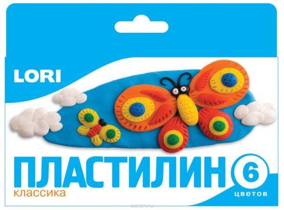Пластилин Классика, 6 цветов,20гр