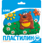 Пластилин Классика, 10 цветов,20гр