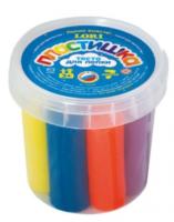 Тесто для лепки набор №1 в малой пластиковой банке с крышкой, 7 цв.