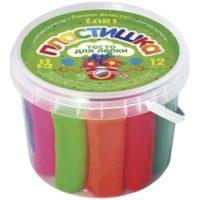 Тесто для лепки набор №3 в малой пластиковой банке с крышкой, 12 цв.