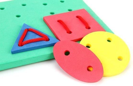 Шнуровка «Пластина с геом.фигурами (16 шт)
