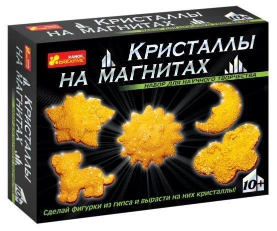 Набор для опытов «Кристаллы на магнитах (желтые)»
