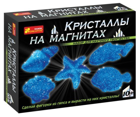 Набор для опытов «Кристаллы на магнитах (синие)»