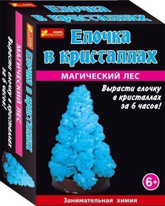 Набор для опытов «Елочка в кристаллах (голубая)»