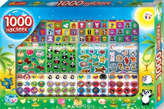 1000 наклеек с животными — Наборы наклеек