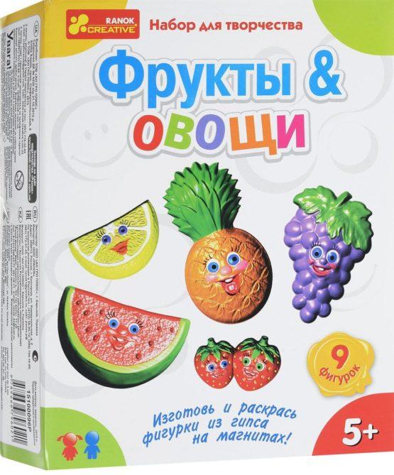 Набор для творчества из гипса «Гипс на магнитах «Фрукты. Овощи»